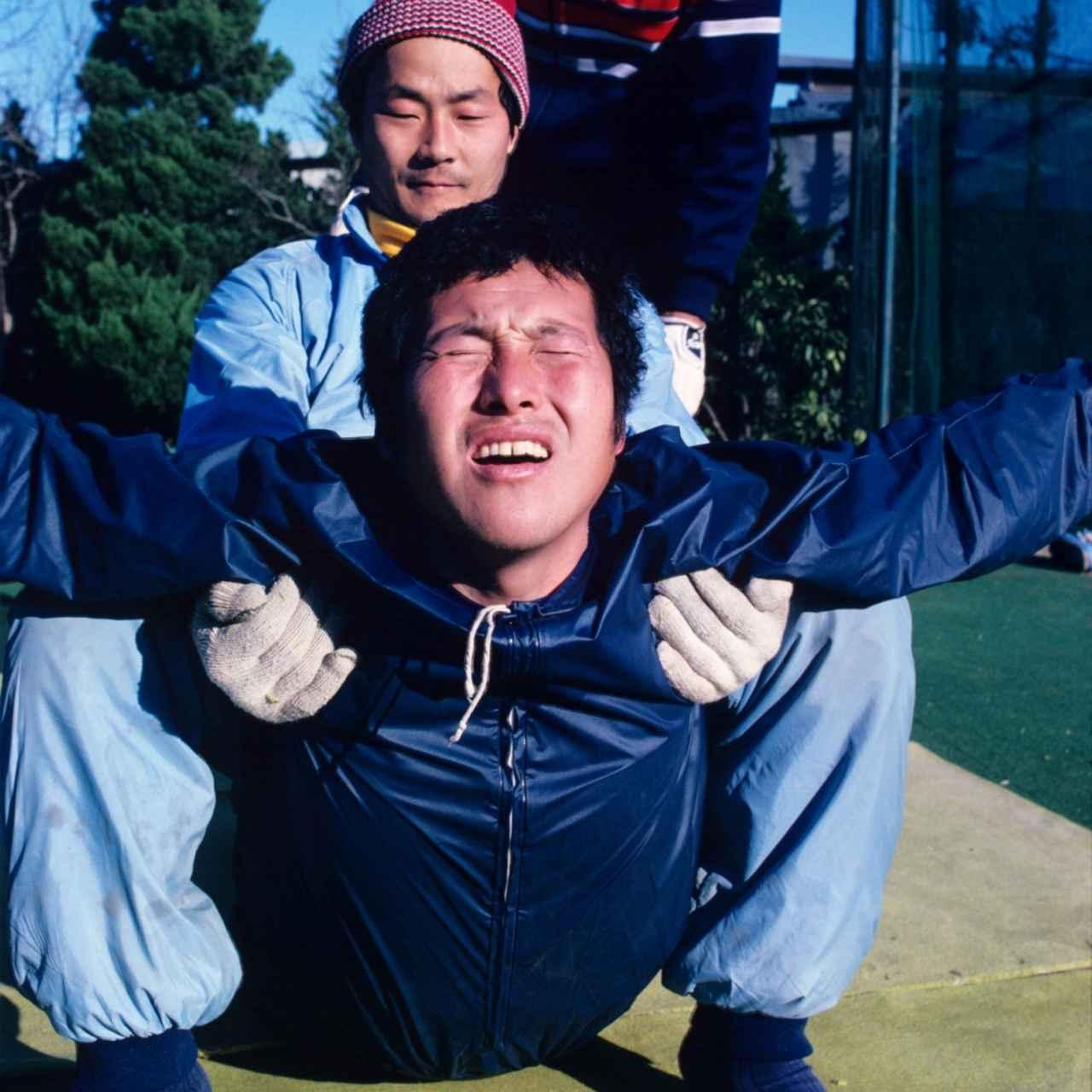 画像: 1982年初頭のトレーニング風景(後ろは飯合肇)