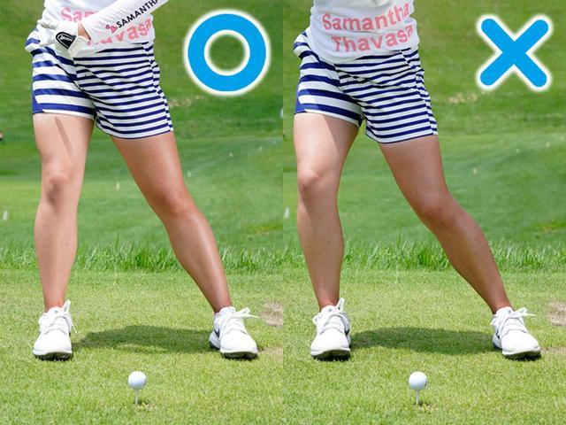 画像: 右ひざが流れると左に曲がる
