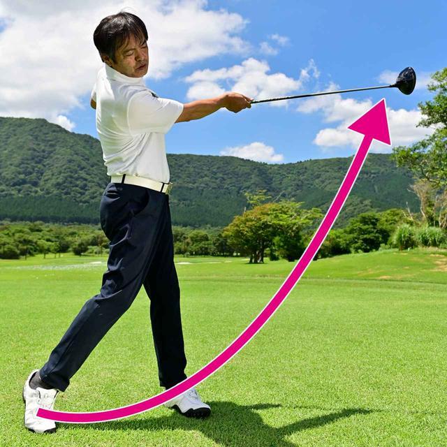 画像2: 目標にヘッドを放り投げるように体を大きく使う