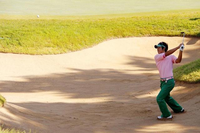 画像: 2008年の日本オープンでは17歳の石川遼が奮闘。17番(試合では8番)では4日間でダブルボギーひとつ、ボギーひとつと苦しめられた