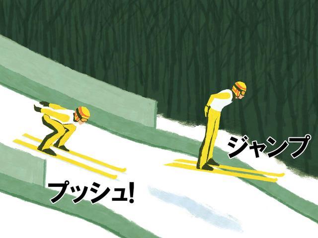 画像: ジャンプはインパクトの瞬間ではなく、インパクト前に生じている