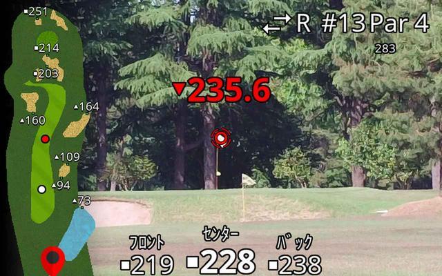 画像: コースマップが表示された計測画面