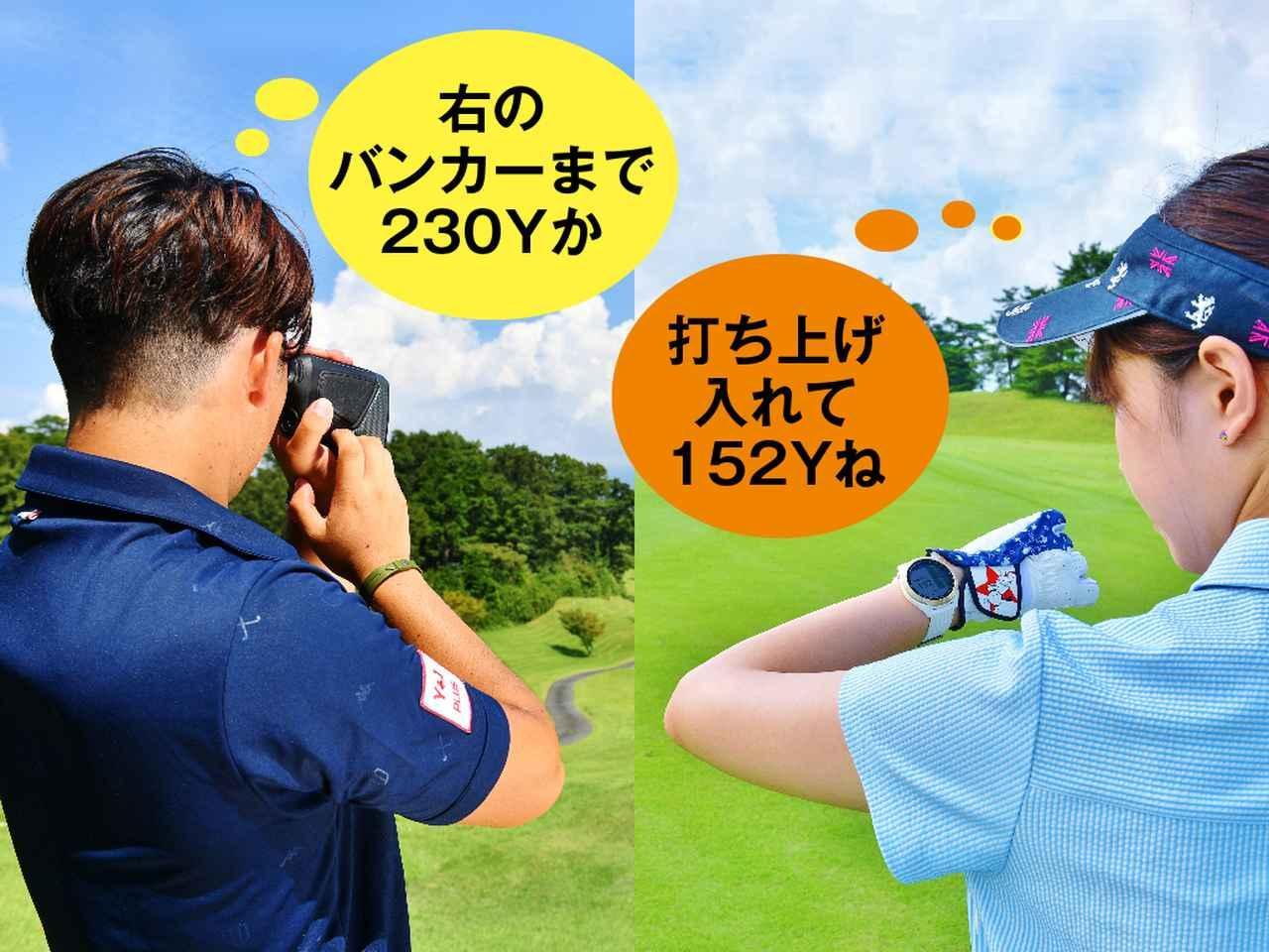画像: (左)レーザー式、(右)GPS式