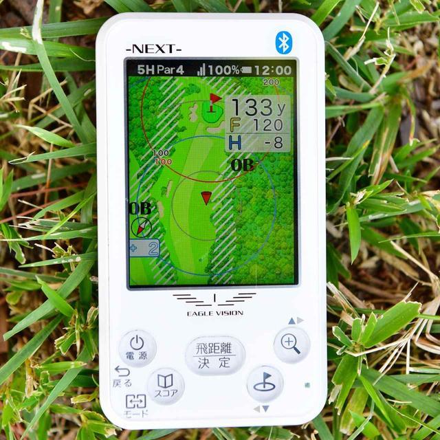 画像1: コースレイアウトを上から見ながらプレー GPS式の距離計測器