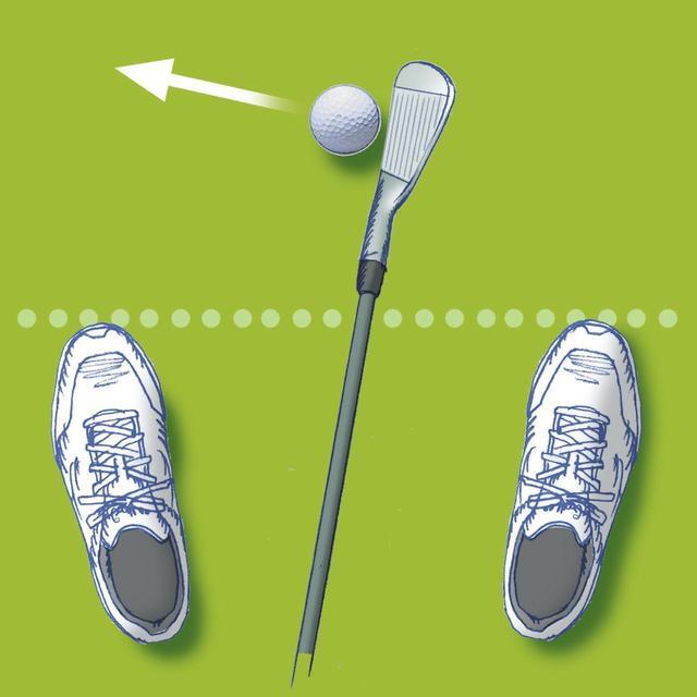 画像: ドライバーと同じ感覚で振って右に飛ぶなら、打ち方を変えずスタンスで調整する