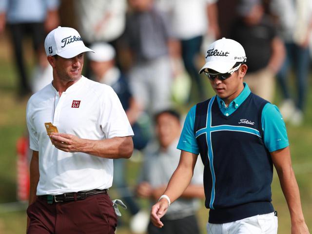 画像: 昨年の日本オープンでアダム・スコットとラウンド。「好きな選手。マスターズでは彼が優勝した場面が一番印象に残っている」(中島)