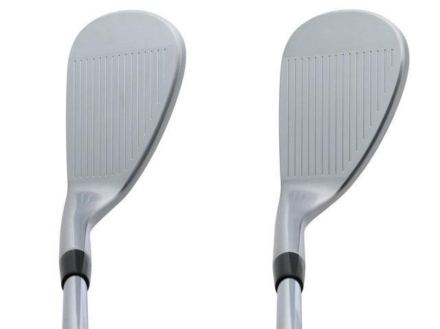 画像: ルールギリギリの溝加工でスピン性能がアップ(左から52度、58度)