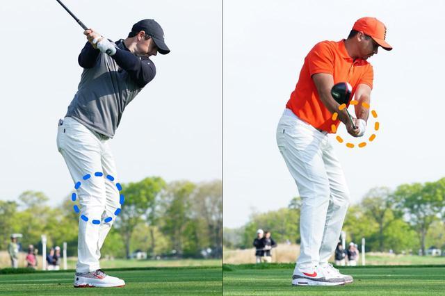 画像: 右ひざ(マキロイ)、左腕(デイ)が二人の特徴