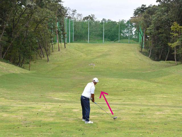 画像: 練習場では真っすぐな向きだけでなく、斜めを向いて打つ練習をしよう