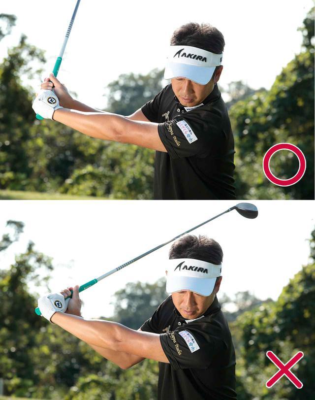 画像: 【スウィングのPOINT③】 コックを使わず肩の回転で上げる