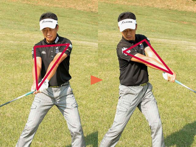 画像: 【スウィングのPOINT②】 手首を固めて体の回転で振る