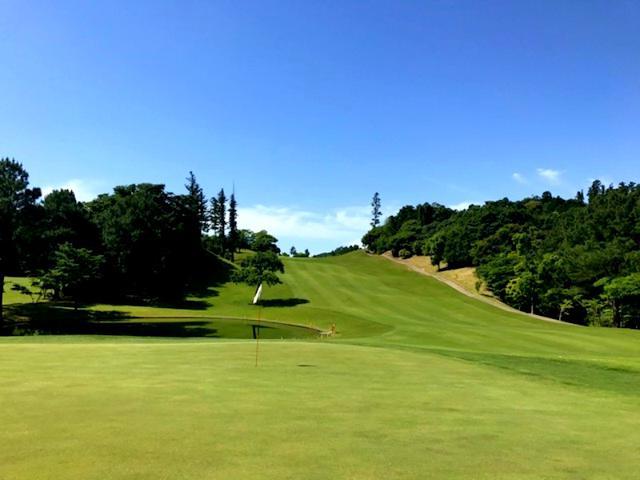 画像: ジャパンPGAゴルフクラブ(18番パー5) セカンドから池を避けて打ち下ろしていく名物ホール