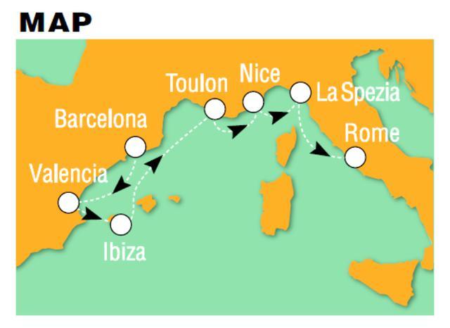 画像: 寄港地スペイン、フランスの名コースで、ゴルフを堪能