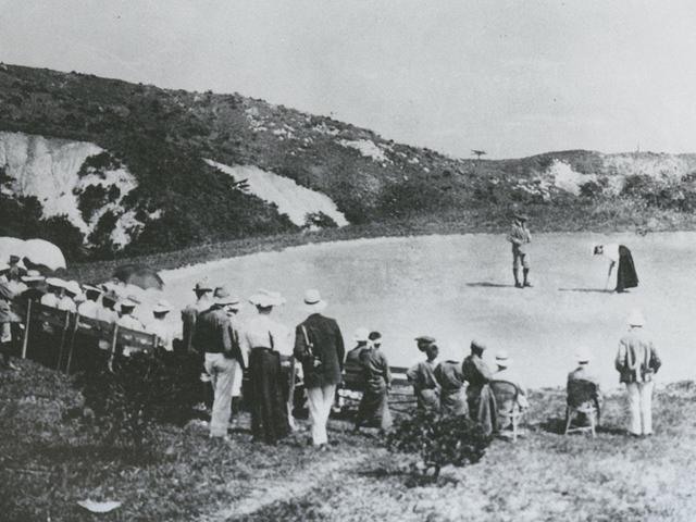 画像1: 日本初のゴルフ場、神戸GCは雑草や笹を手鎌で刈り取っただけだった