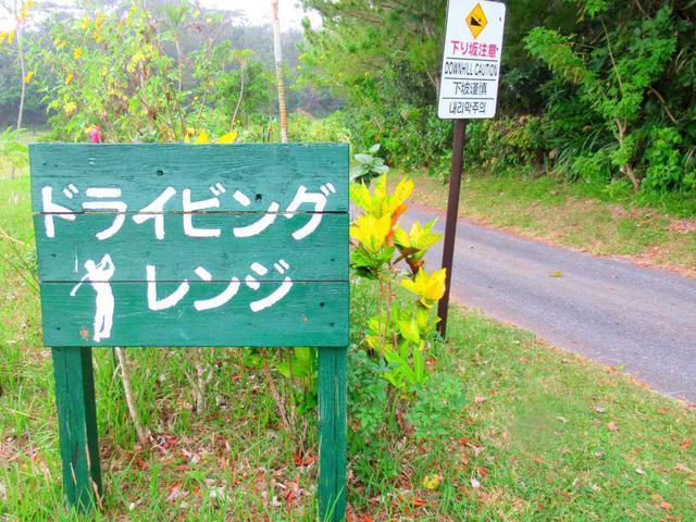 画像: 坂道を下っていくと、すぐに看板が見えてきます
