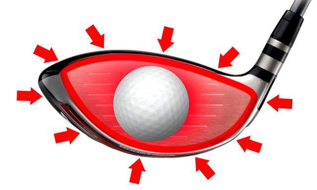 画像: ブーストリングにより、エネルギーが集中してボールに伝わり、ボール初速を大きくアップさせる