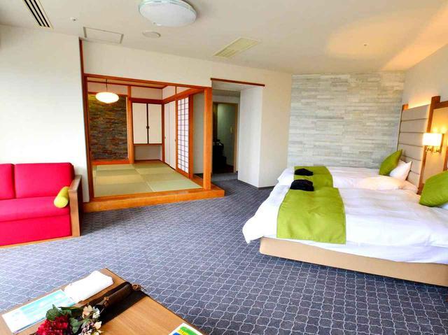 画像: 4名で宿泊できる人気の和洋室