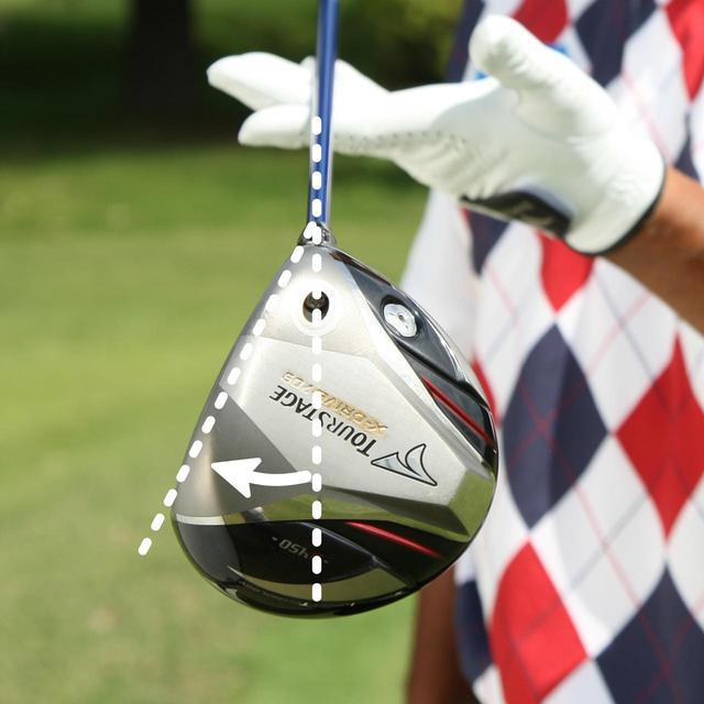 画像: 重心アングルが大きいほど球がつかまりやすく、小さいほど球がつかまりにくい