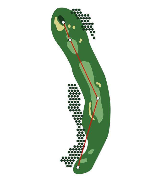 画像: ティショットが右斜面に行きがちな 3番・548㍎・パー5