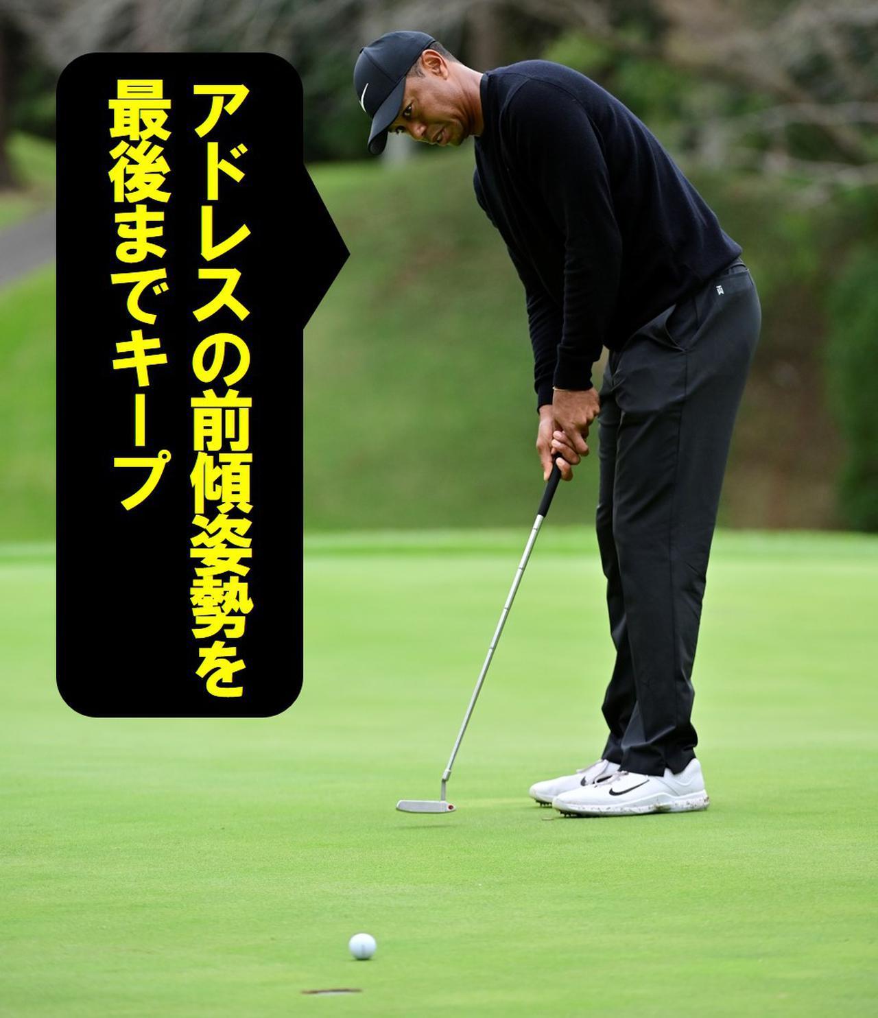 画像24: 【パット研究】タイガーの構えと打ち方、ギア選びに詰まった「パッティングの極意」、中井学プロが解説!