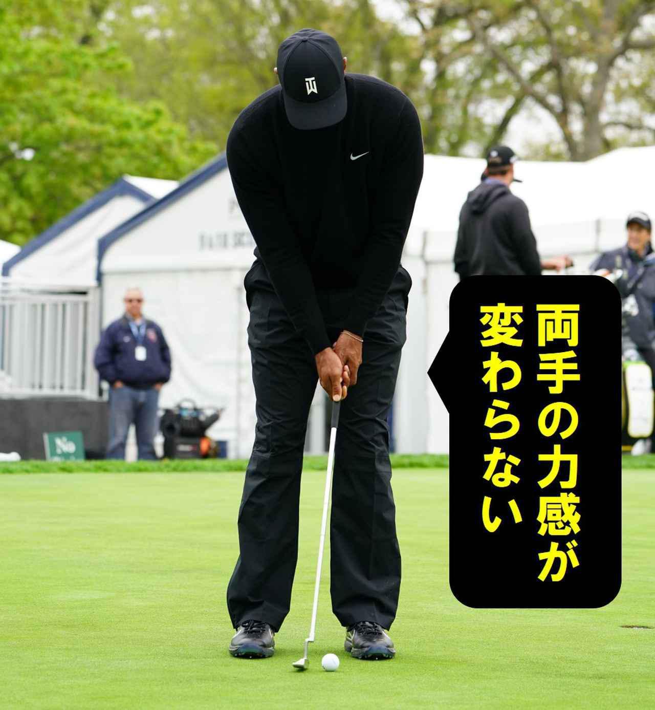 画像6: 【パット研究】タイガーの構えと打ち方、ギア選びに詰まった「パッティングの極意」、中井学プロが解説!