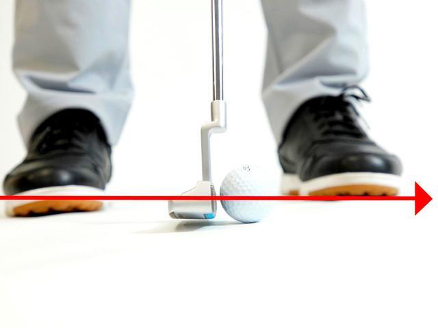 画像2: フェースを開閉しながらストロークすると、ヘッドが低く長く動いてボールをゾーンでとらえられる