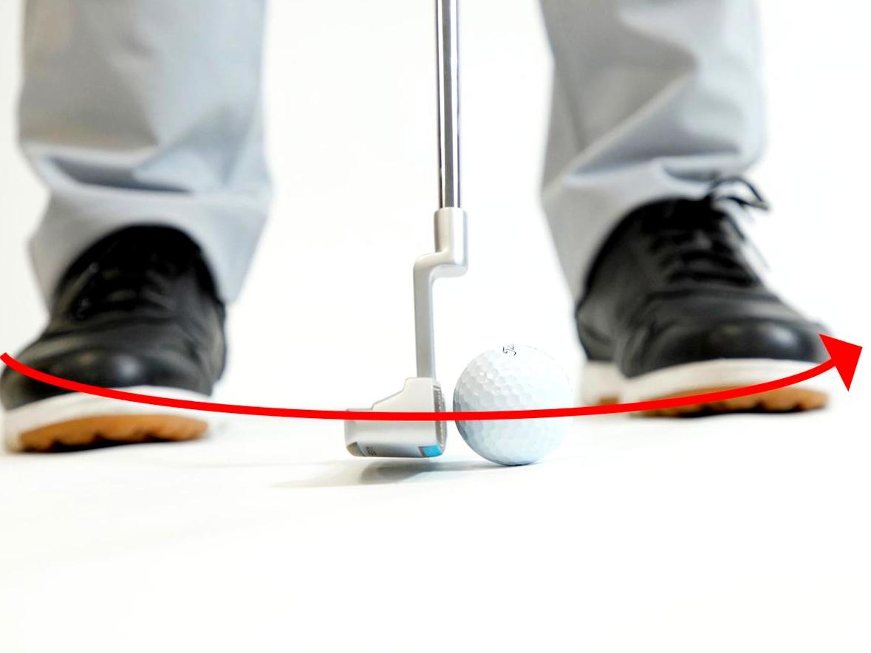 画像2: フェースを真っすぐスクェアなまま動かすと、ヘッド軌道はU字軌道になる