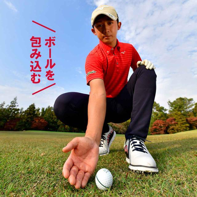 画像: 【ポイント①右手のひら】 右手のひらがフェース面の意識