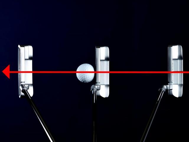 画像1: フェースを真っすぐスクェアなまま動かすと、ヘッド軌道はU字軌道になる