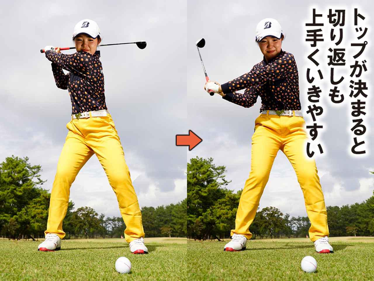 画像1: 【低く入るポイント①】 左肩をあごの下まで回す
