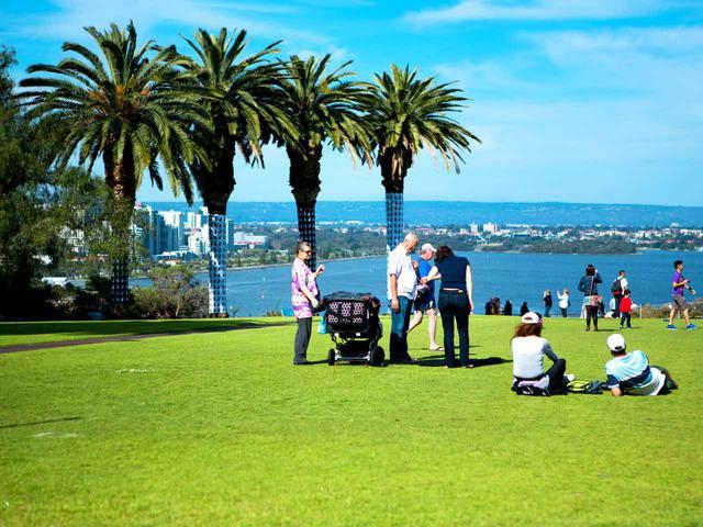 画像2: パースのヨットハーバーとスワン川を望むキングスパークは憩いの広場