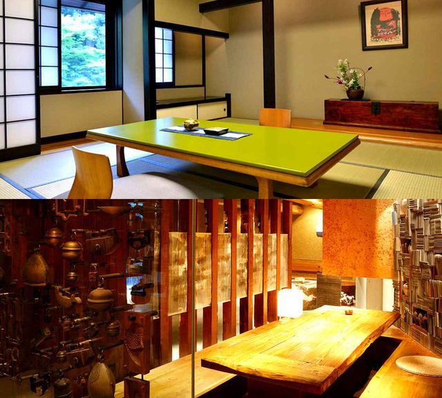 画像: 客室(例)とレストラン石蔵