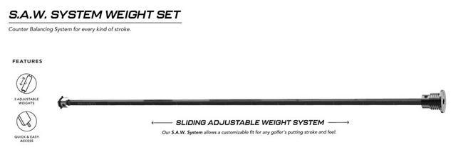 画像1: スライディング・アジャスタブル・ウェート「S.A.Wシステム」のみ
