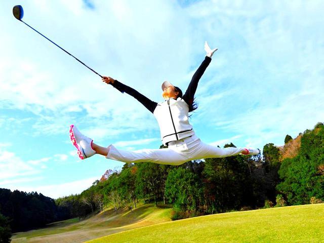 画像: 新体操の元日本代表選手。この跳躍をゴルフの飛距離に転換できるか
