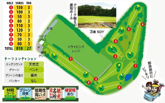 画像: 那須高原に広がるグリーン自慢の9ホール