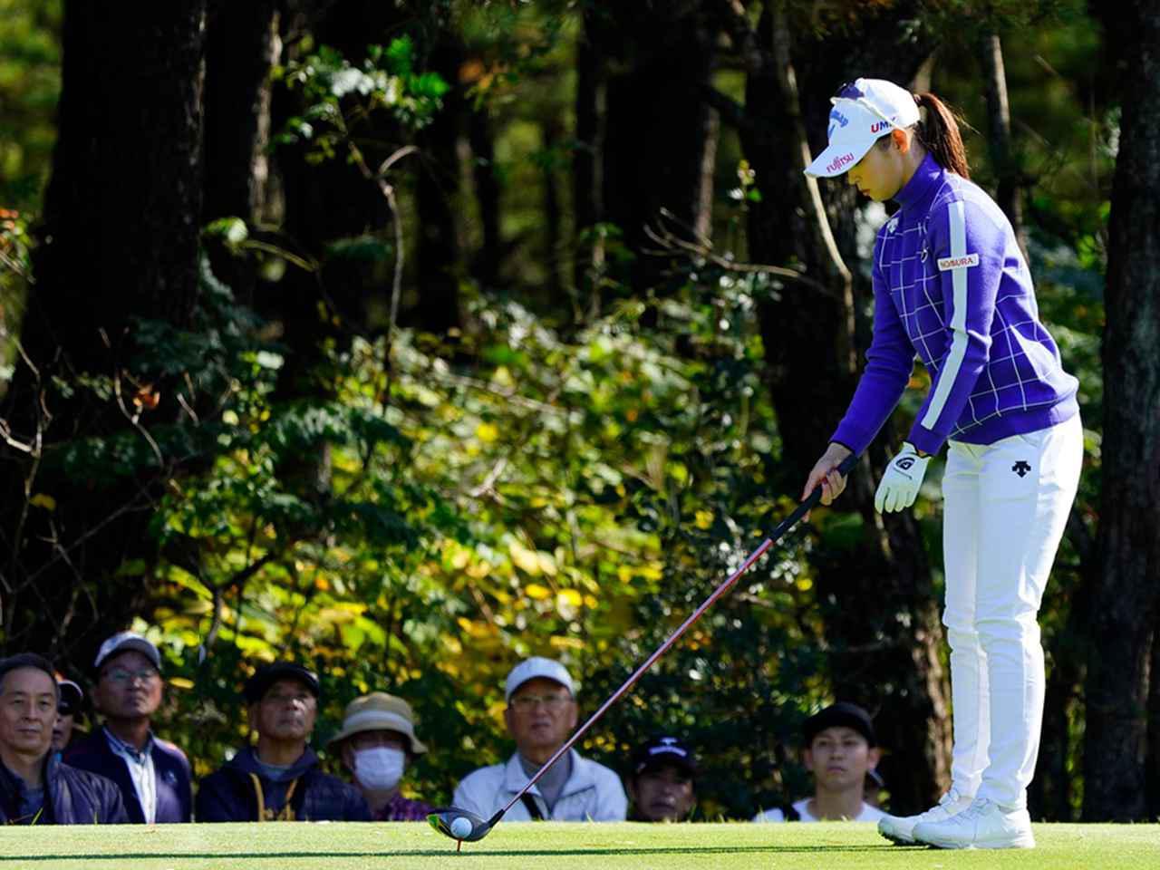"""画像4: 【プレショットルーティン調査】女子プロゴルファー上位32人をチェック! 2タイプに分かれた""""アドレスの入り方"""""""
