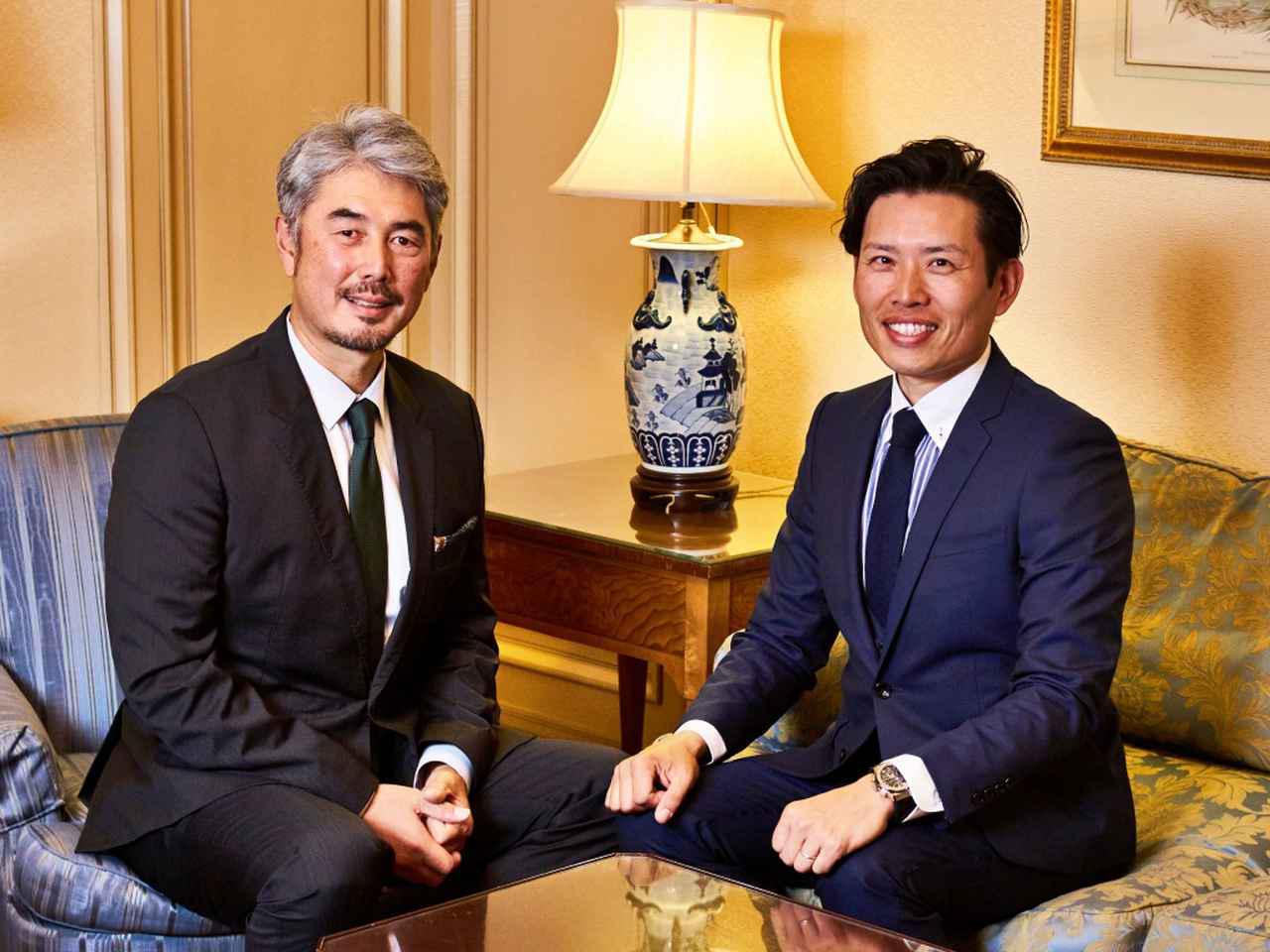 画像: 左から吉井理人、青木翔