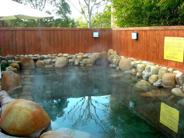 画像: オリムピックGCの露天風呂温泉