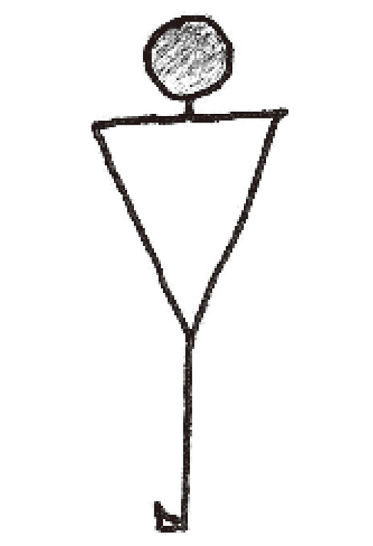 画像: 旧来グリップのアドレスは「Y」が基本(篠塚先生のスケッチ)