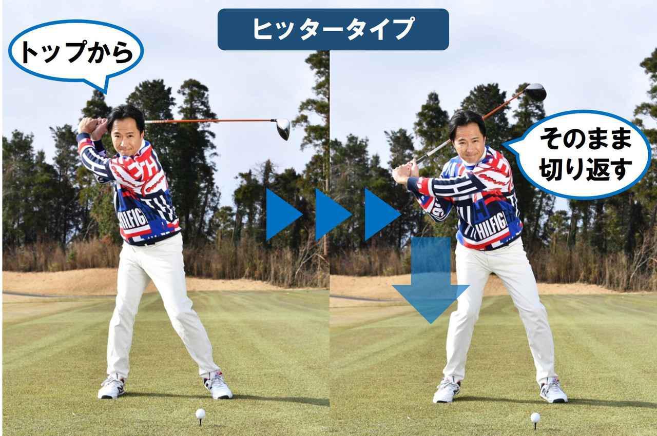 画像2: スウィングのタイプは「スウィンガー」と「ヒッター」の2タイプ。 それぞれに「ぴったりの腰の使い方」がある