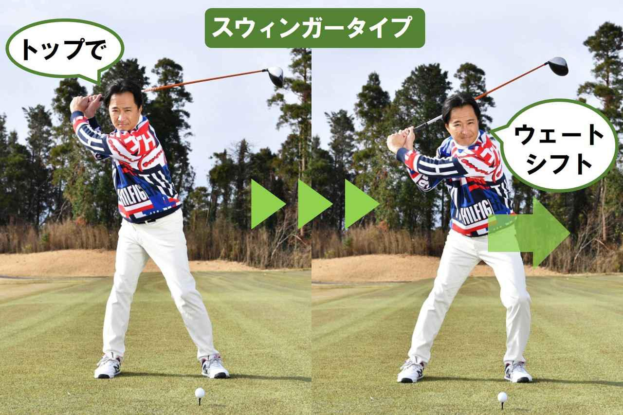 画像1: スウィングのタイプは「スウィンガー」と「ヒッター」の2タイプ。 それぞれに「ぴったりの腰の使い方」がある