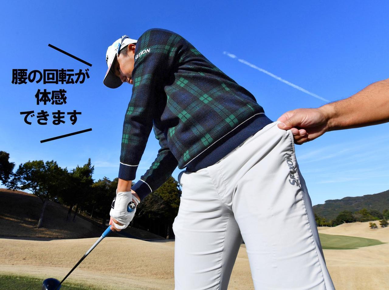 画像3: 【ヒッター代表】出水田大二郎プロ は、 左ひざを伸ばして腰をクルン!