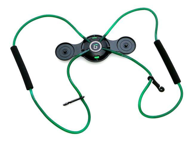 画像: 緑色は黄色よりも負荷が強く、トレーニングにおすすめ