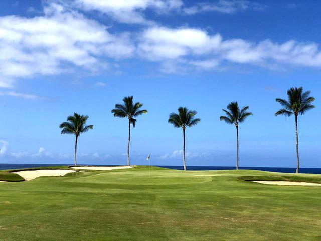 画像1: ワイコロアビーチリゾート・ビーチコース。R・T・ジョーンズJr設計のシーサイドコース