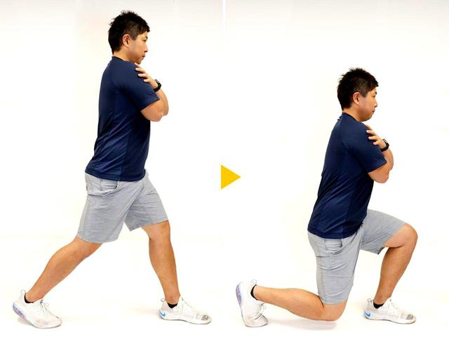 画像: 【STEP3】太もも前面を強化「フロントランジ」