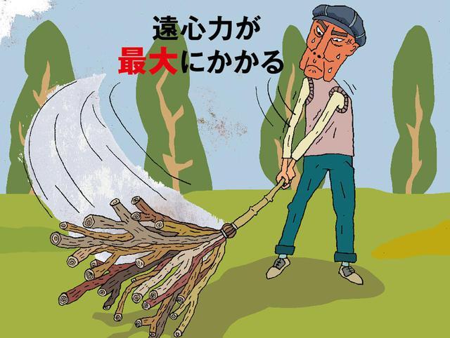 画像1: 竹ぼうきのように長くて重いモノを振る効果 専門家に聞いてみた