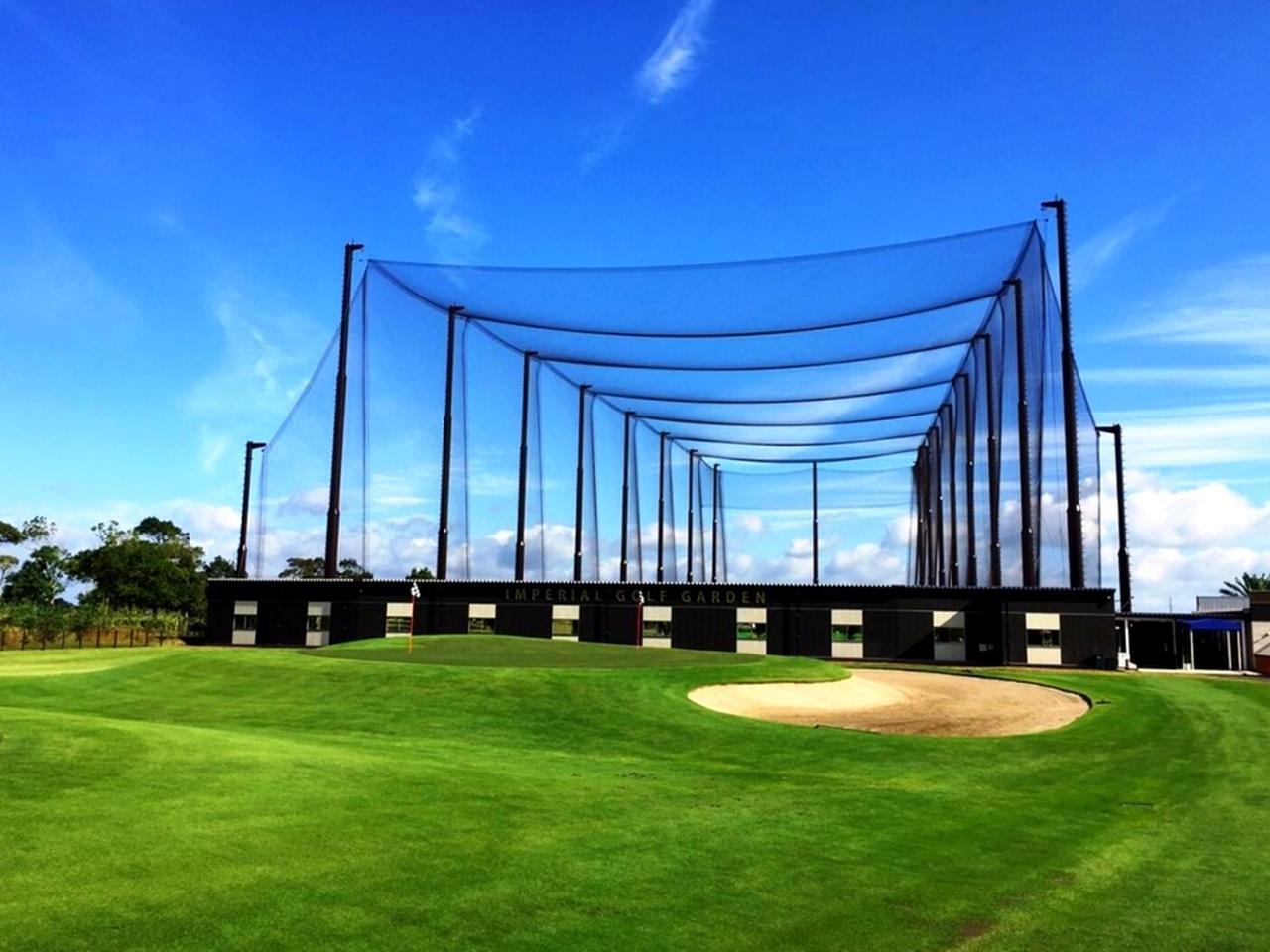 画像: ザ・インペリアルカントリークラブの練習施設「インペリアルゴルフガーデン」180㍎20打席、アプローチ、バンカー、パッティング練習場を備える