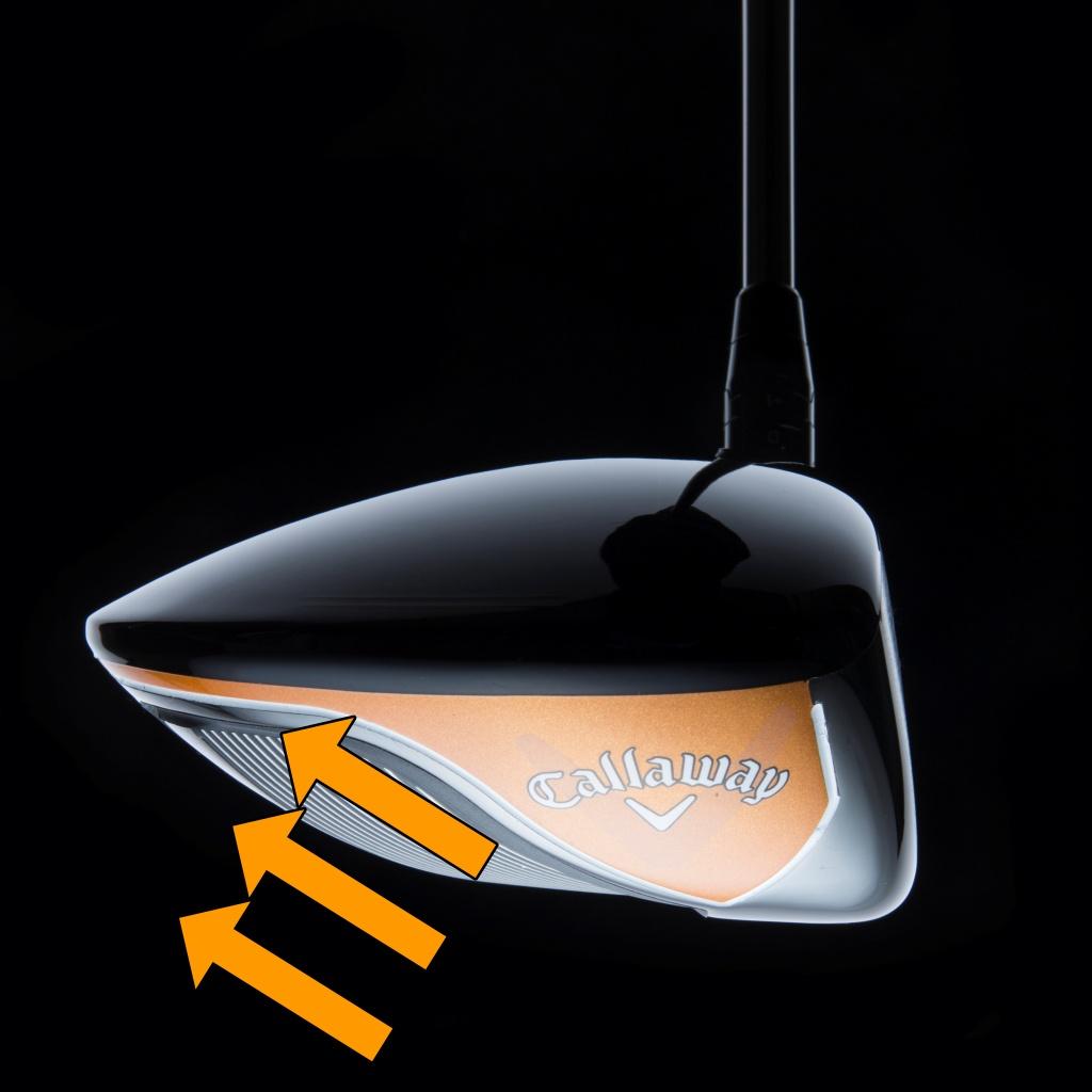 画像: 「キャロウェイ MAVRIK」 芯を外しても芯と変わらぬ飛び。空気抵抗も考えて作られた「マーベリック」のスタンダードモデル