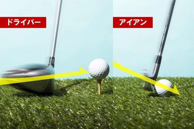画像: 最下点は、ドライバーはボールの手前、アイアンはボールの先。ボール位置が変わるだけでスウィングを変えているわけではない