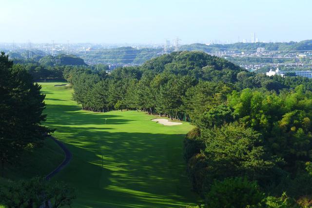 画像: 鎌倉カントリークラブ 横浜市街を望む1番(525Y・P5)